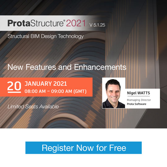 ProtaStructure 2021 5.1.25 New Features and Enhancements Webinar