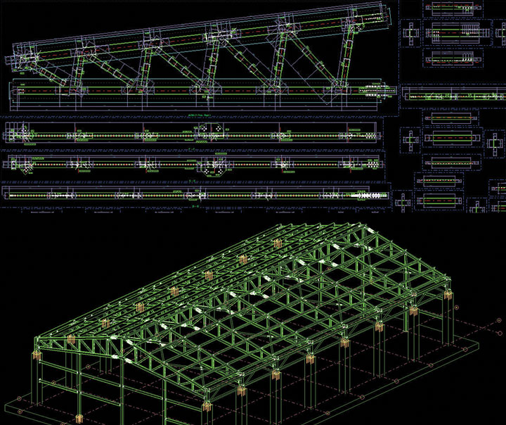 General Arrangement Drawings, Truss Details, Connection Details, and Shop Drawings