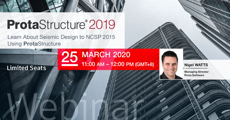Learn About Seismic Design to NCSP 2015 Using ProtaStructure